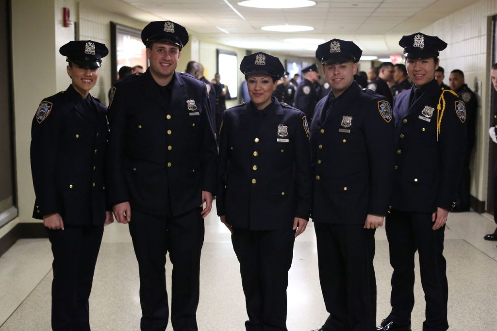 hundreds of new nypd officers graduate the police academy