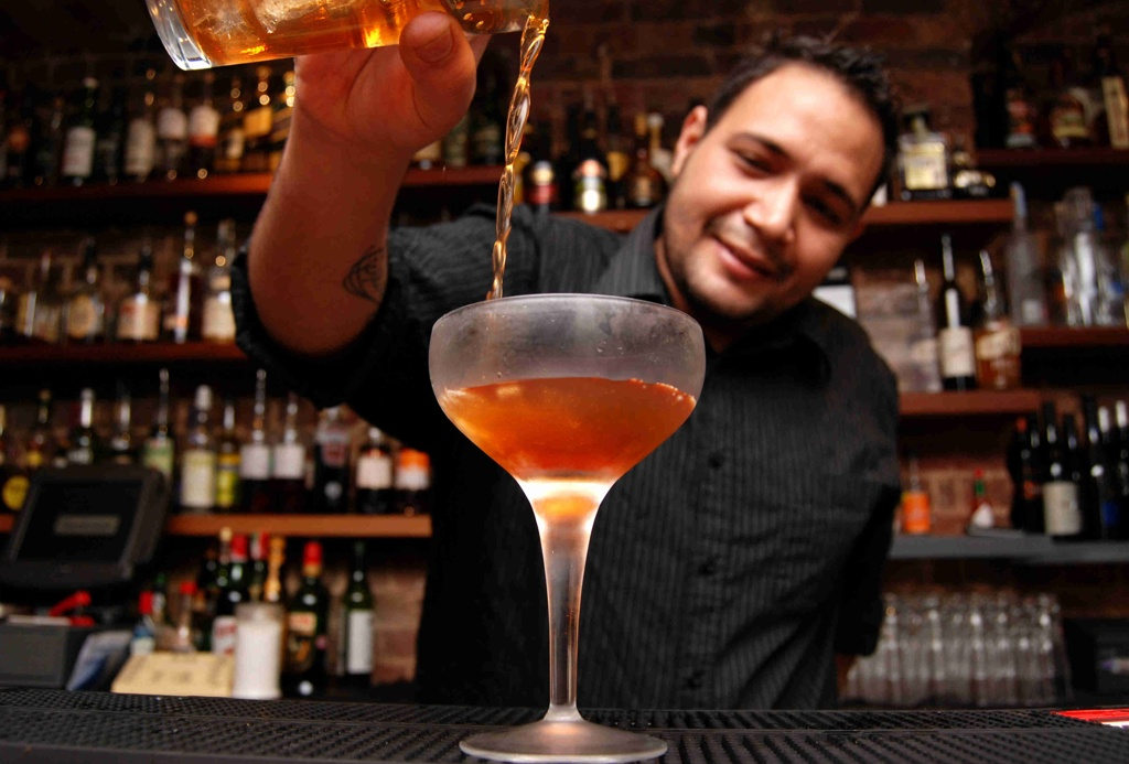 London-import Hawksmoor has a lively bar scene and decadent menu.