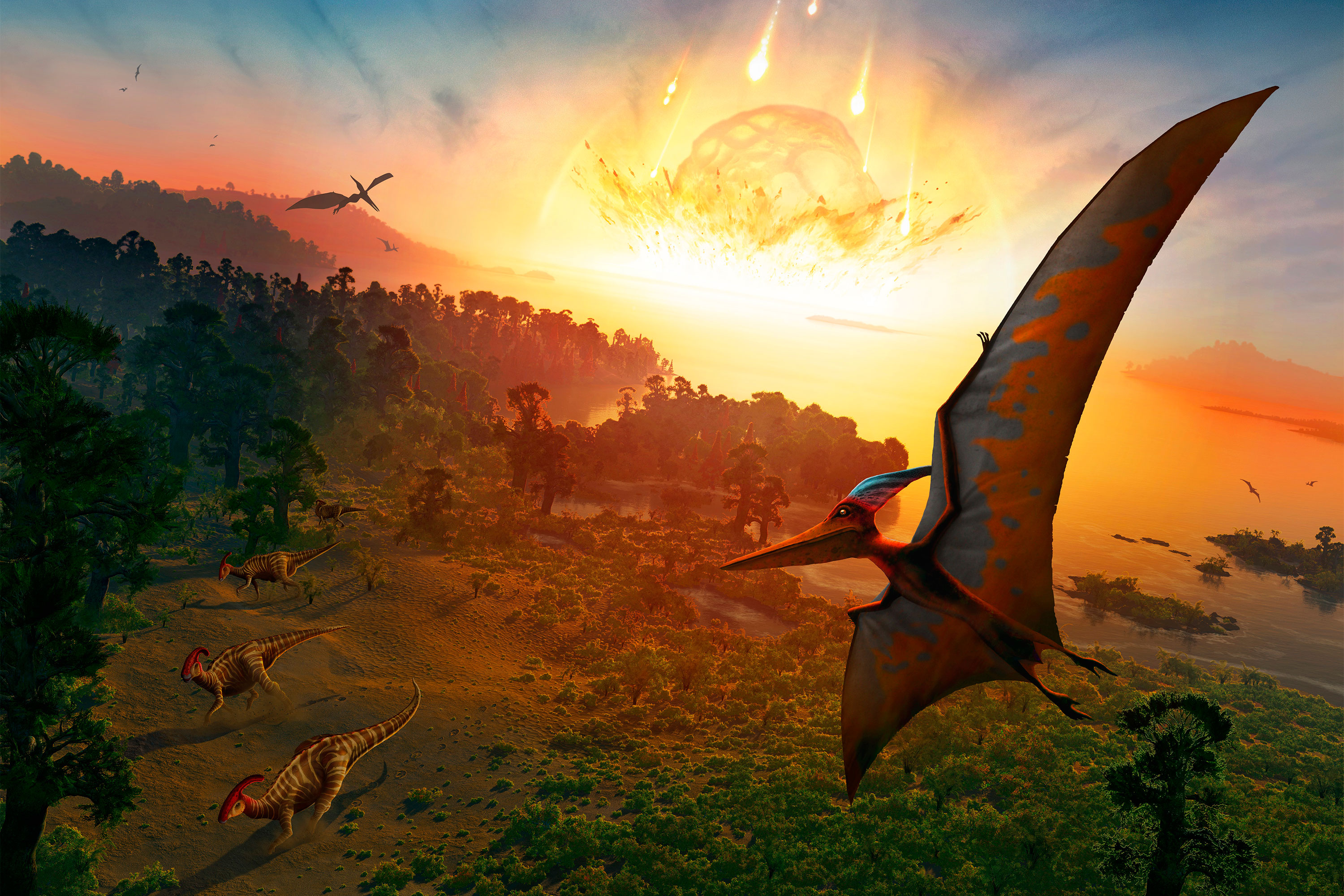 Dinosaurs might have lived if asteroid had hit minutes later