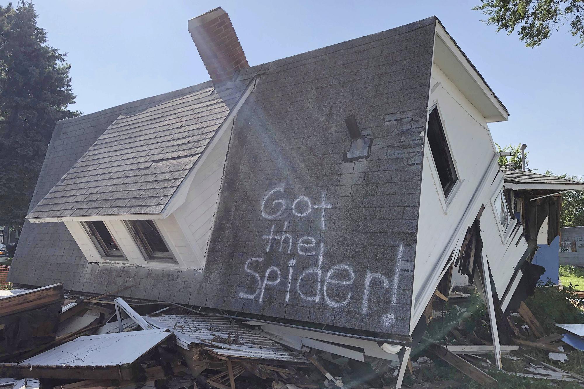Got the spider!': Couple's joke on demolished house goes viral