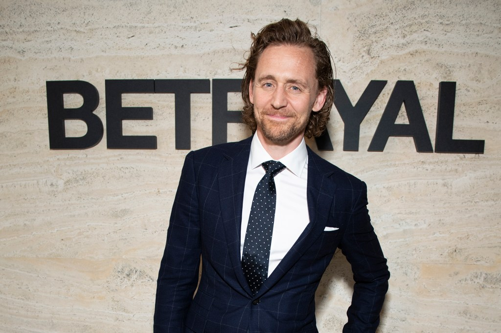 """Broadway was happy to have Tom Hiddleston, Marvel's Loki, onstage in """"Betrayal."""""""