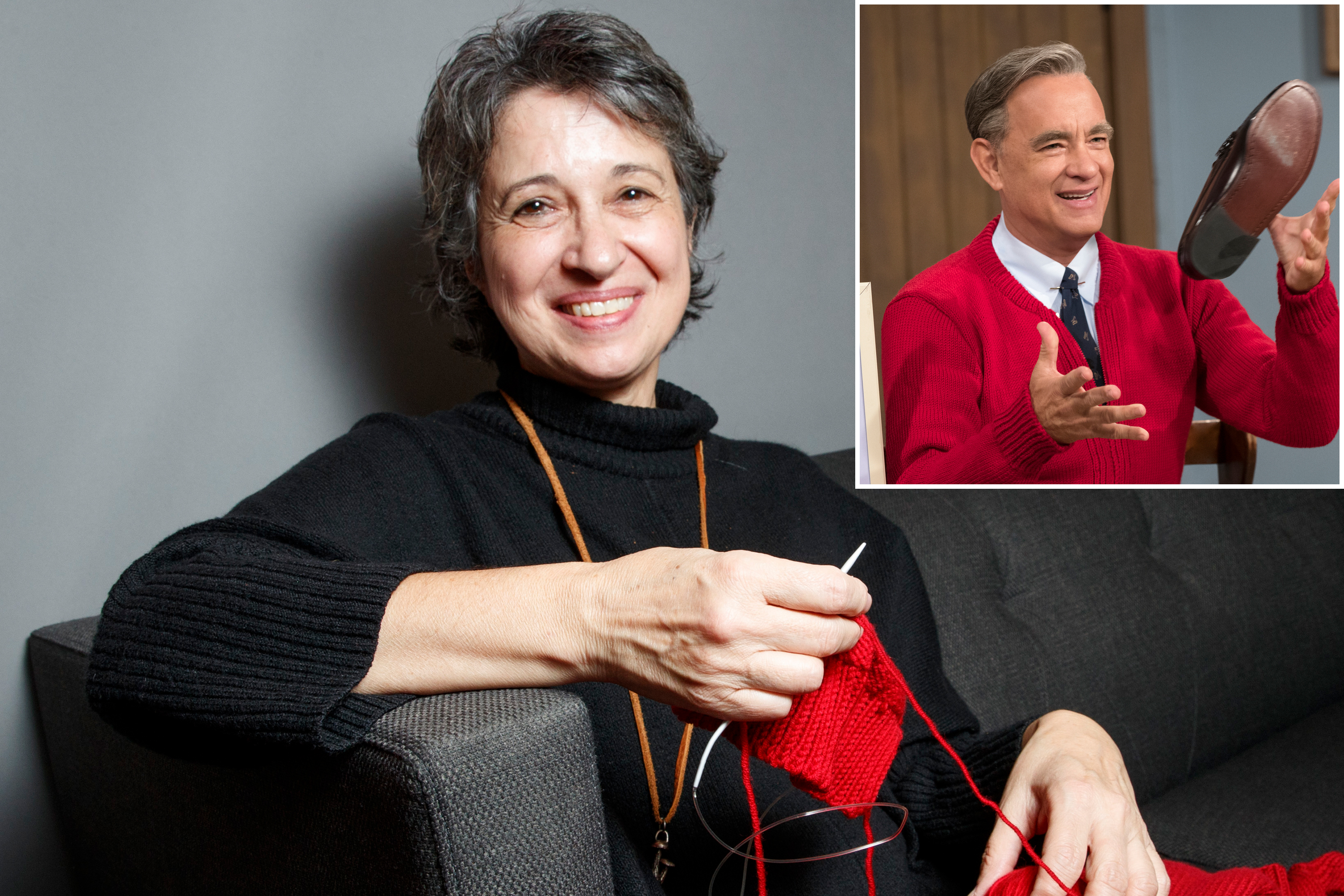 Yasemin Esmek Knitted Tom Hanks Sweaters For Mr Rogers Movie