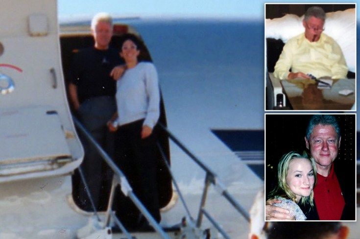 Photos show Bill Clinton, Ghislaine Maxwell on Epstein's 'Lolita Express' jet