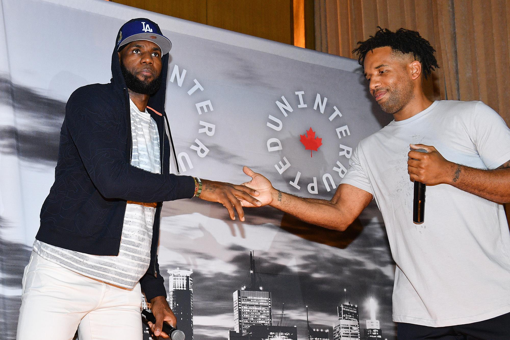 LeBron James, Maverick Carter raise