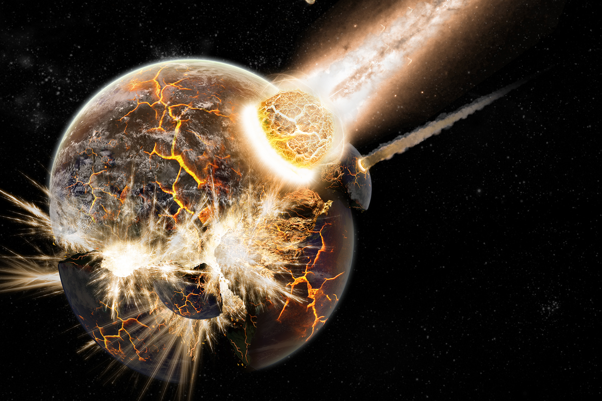 Image result for images of explosion on the moon
