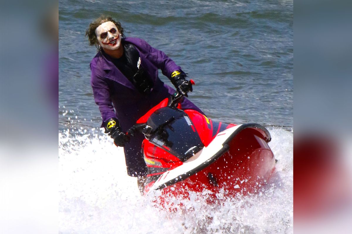 Joker Spotted Jet Skiing On The East River
