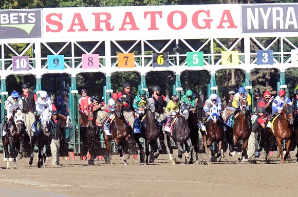 Saratoga opens horse racing today without fans