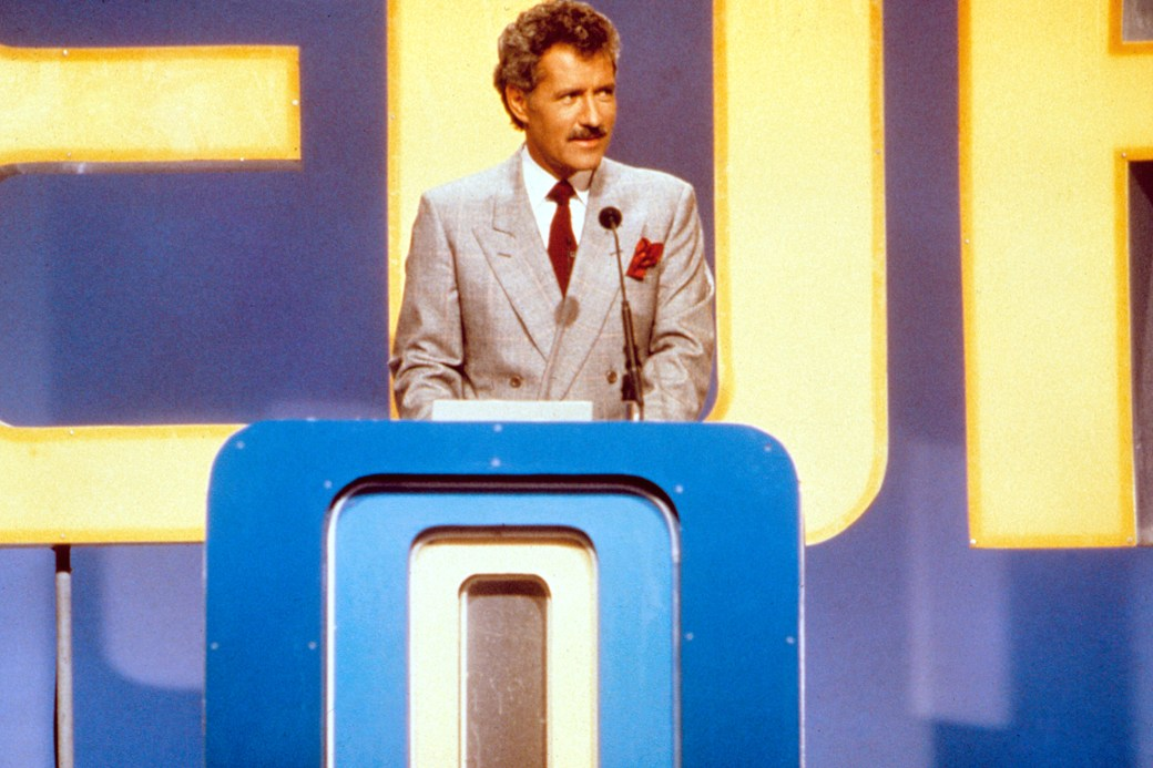 JEOPARDY, Alex Trebek, host, 1984- . (c) ABC/ Courtesy: Everett Collection.
