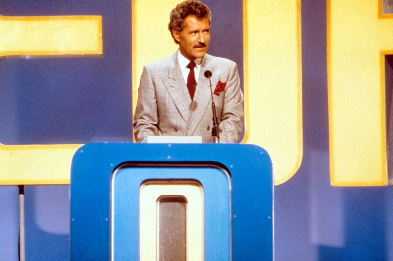 JEOPARDY, Alex Trebek, host, 1984- . (c) ABC/ Courtesy: Everett Collection.