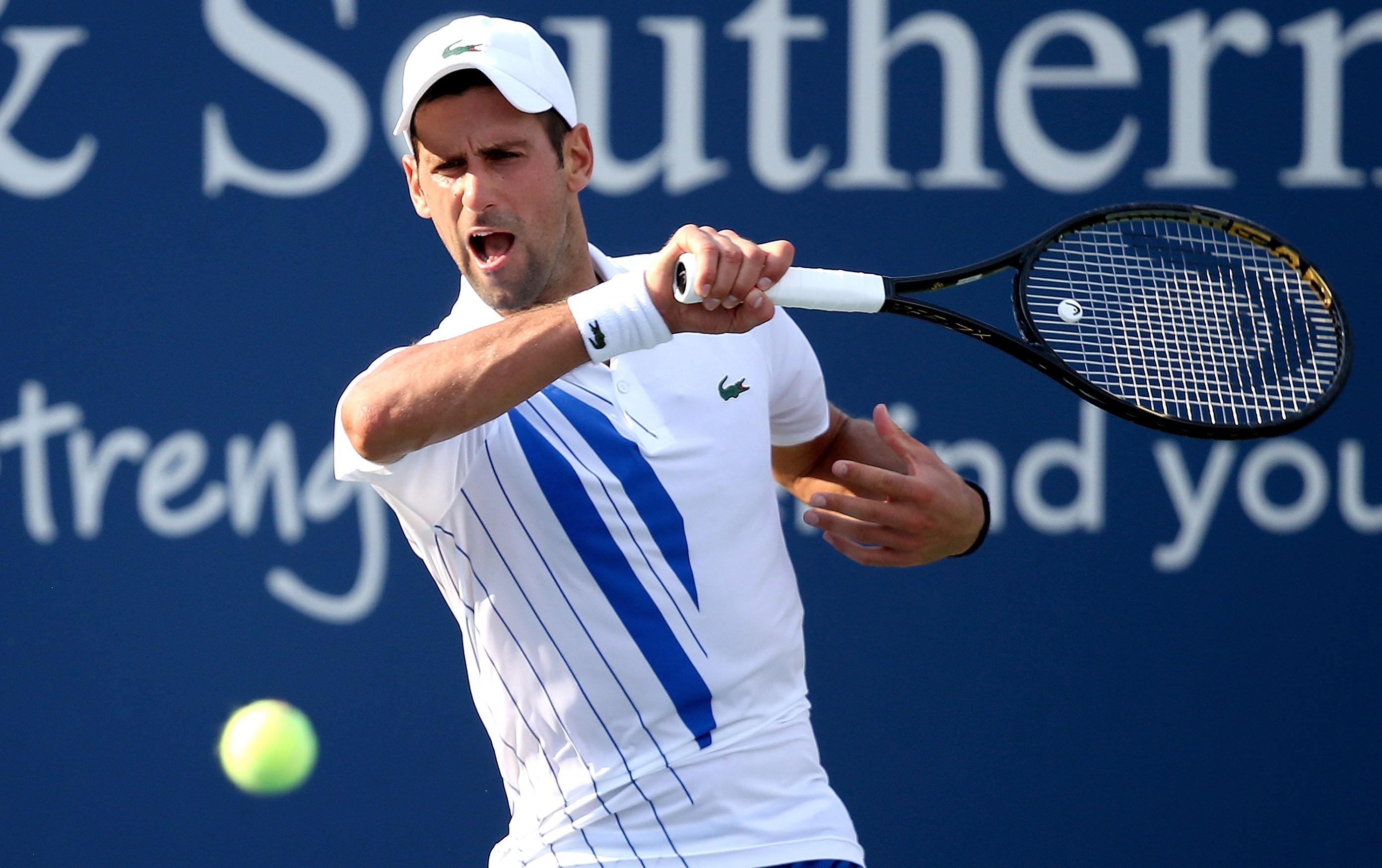 Novak Djokovic Getting Used To To Empty Usta National Tennis Center