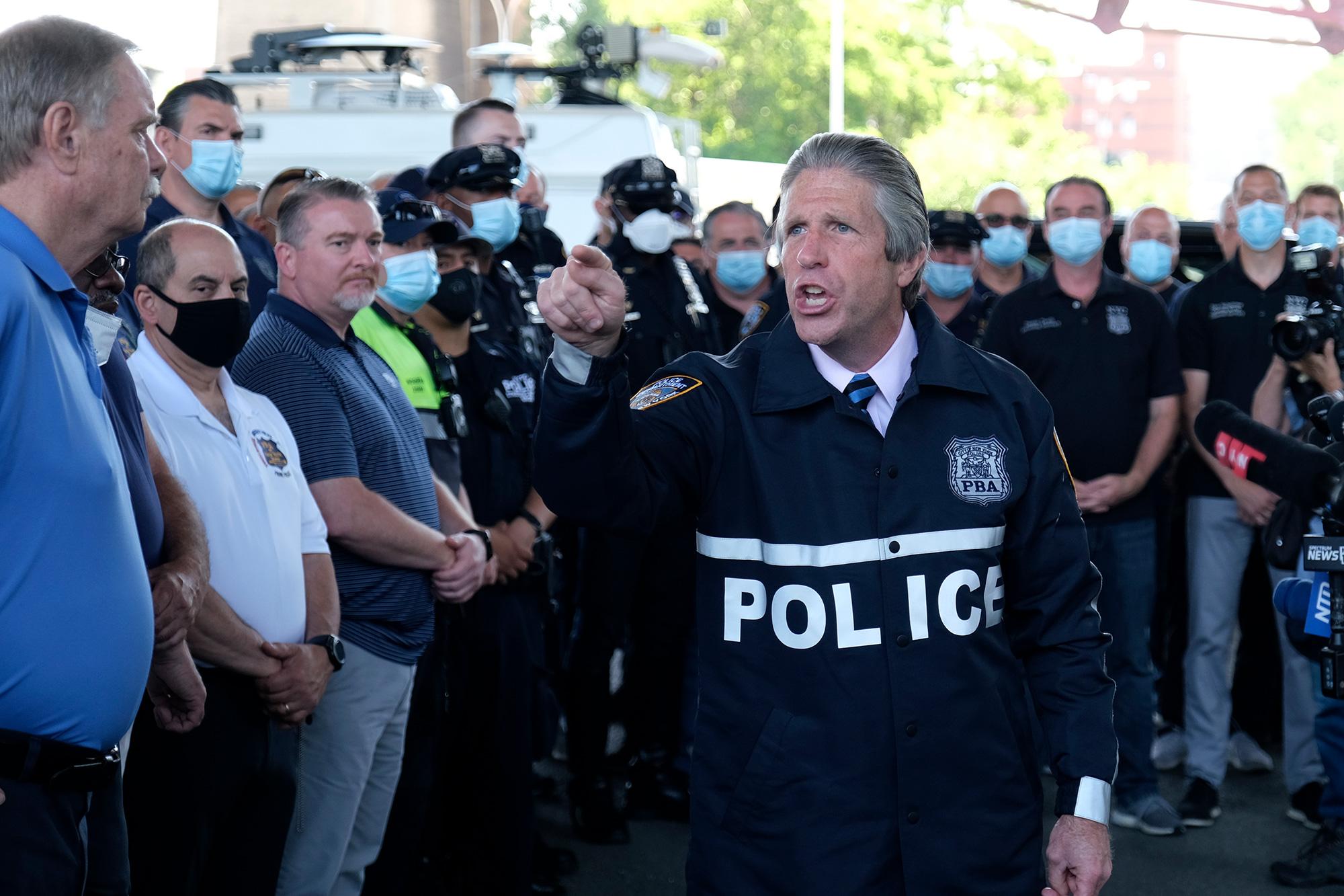 NYPD union endorses Trump, nicknames Joe Biden 'Sleepy Joe'