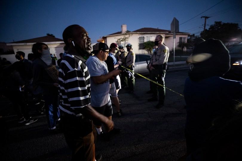 USA SHERIFF SHOOTING PROTEST