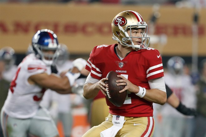 Giants will likely face 49ers backup Nick Mullens