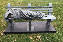 Someone Calls Police on 'Homeless Jesus' Statue 20 Minutes After Installation Outside Ohio Church