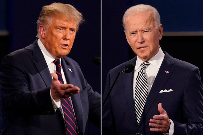 Trump, Biden kick off competing town hall events in prime-time
