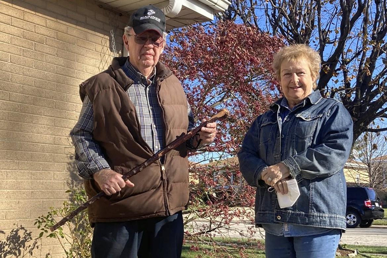 Ex-Marine, 81, fights off burglars with antique walking stick 1