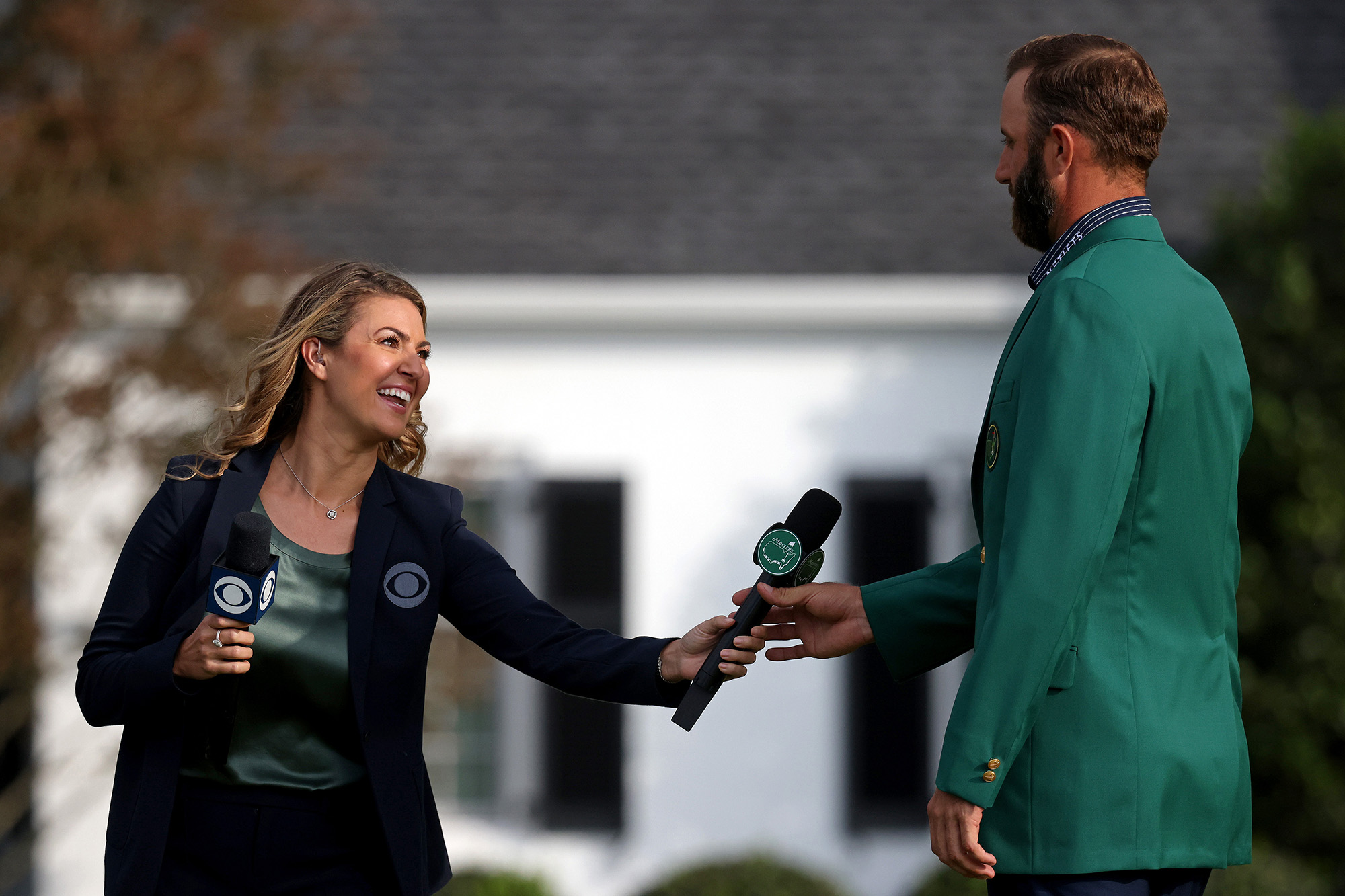 Dustin Johnson's emotional Masters interview shocked Amanda Balionis