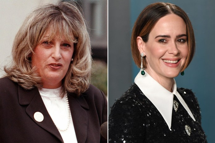 Sarah Paulson barely recognizable as Linda Tripp in 'Impeachment'