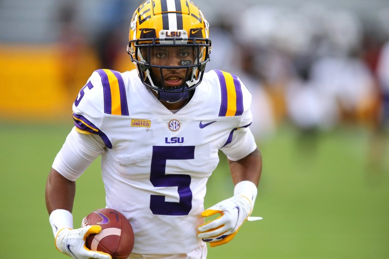 LSU receiver Koy Moore says police 'violated' him during search