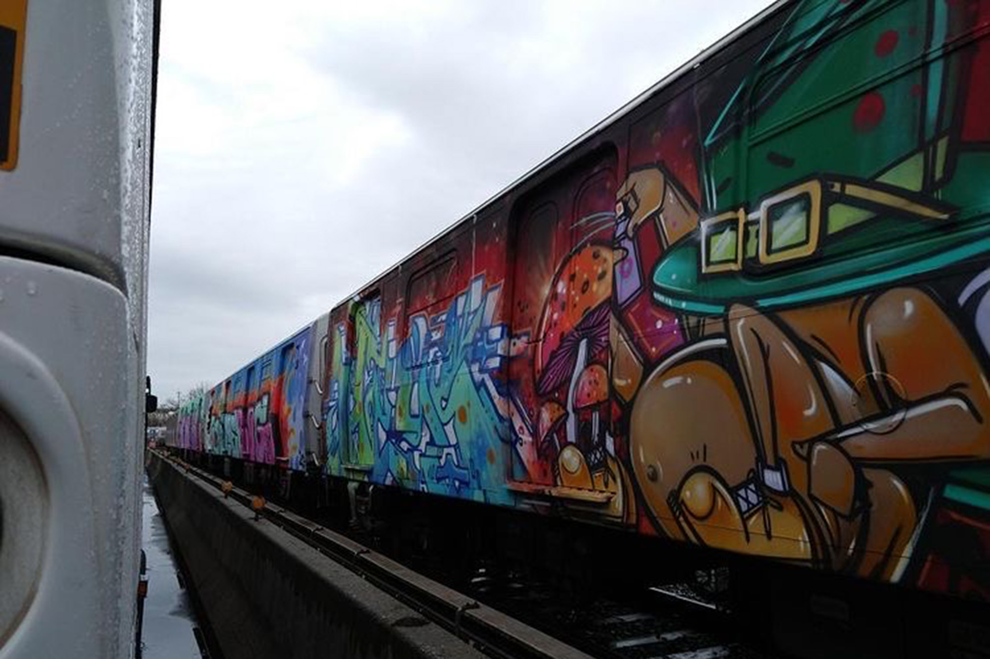 Vandals cover 24 NYC subway cars along six lines with graffiti