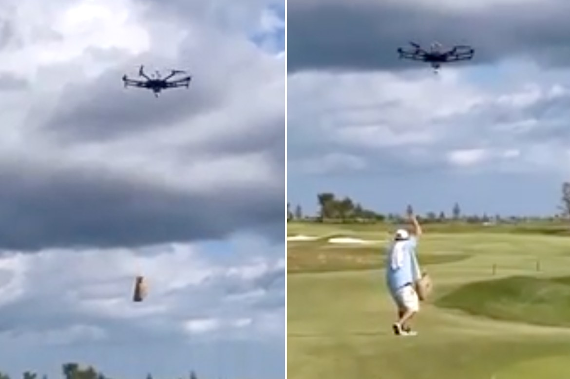 Michael Jordan's golf course has a beer delivery drone 1