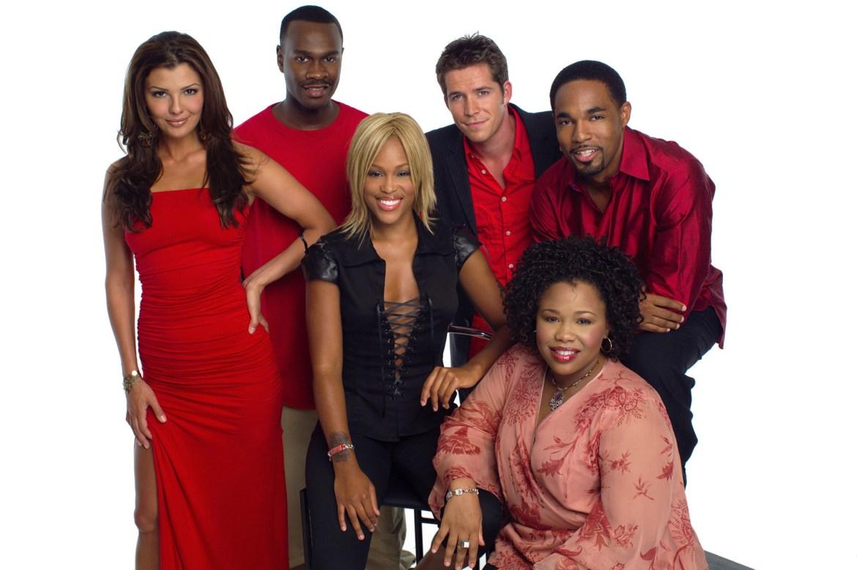 EVE, L-R:  Ali Landry, Brian Hooks, Sean Maguire, Natalie Desselle-Reid, Jason George and Eve, 2003-