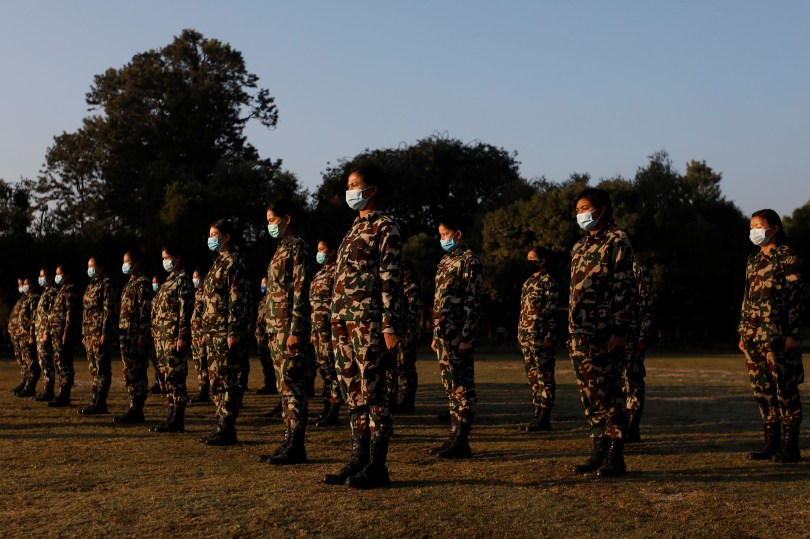 Nepal's female soldiers break taboos to tackle COVID-19 crisis