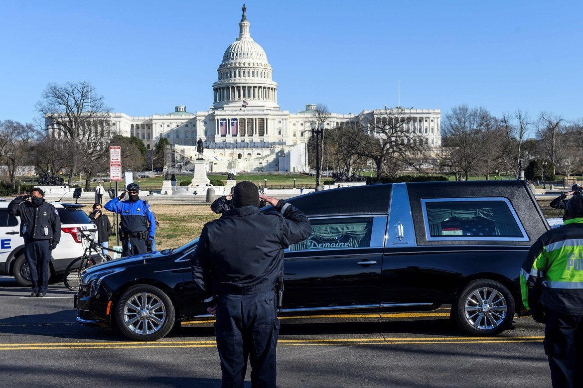 Cops line DC street to salute Officer Brian Sicknick killed in Capitol riot 1