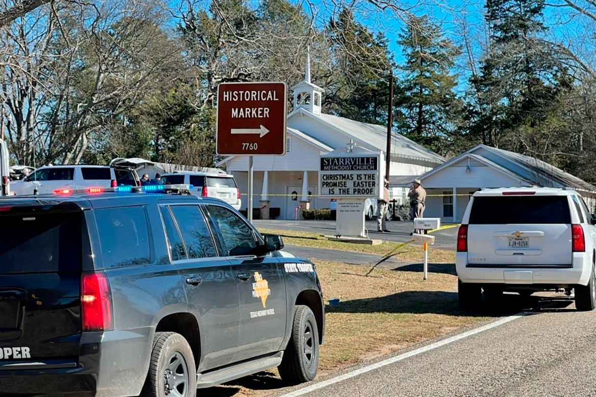 One dead, one hurt in shooting at Texas church 1