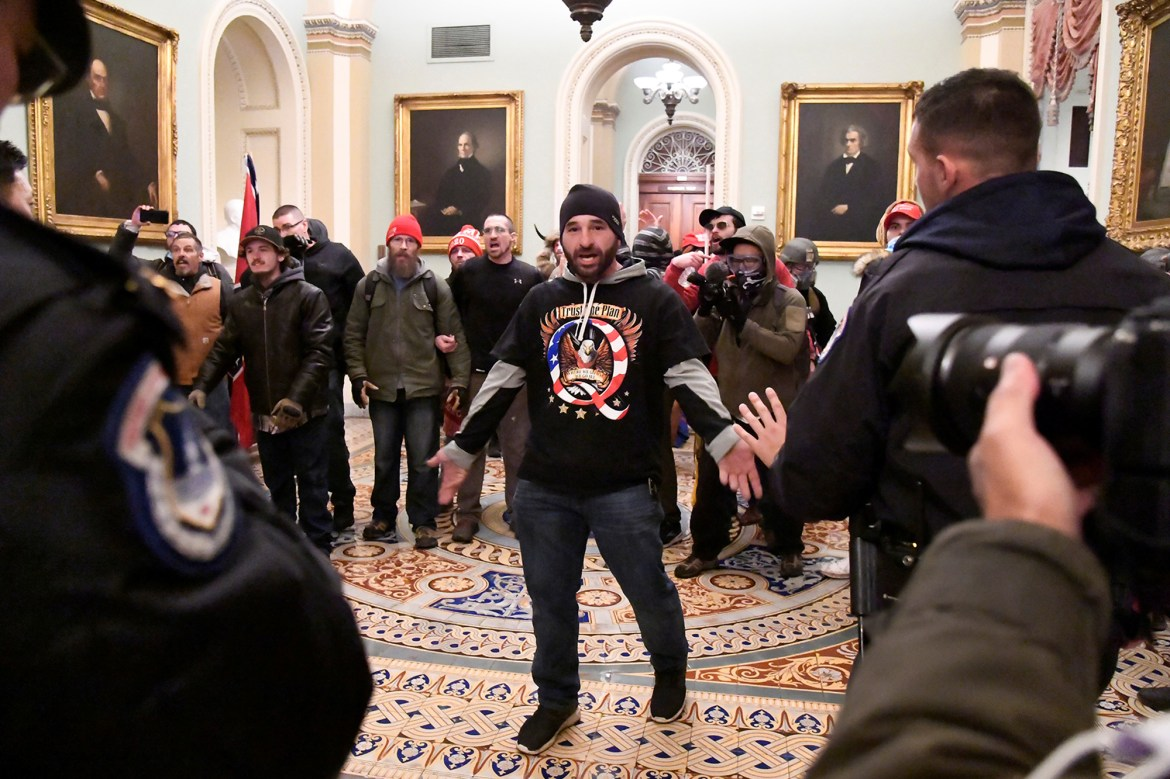 Capitol cop led DC rioters from open Senate chambers door before it was locked 1