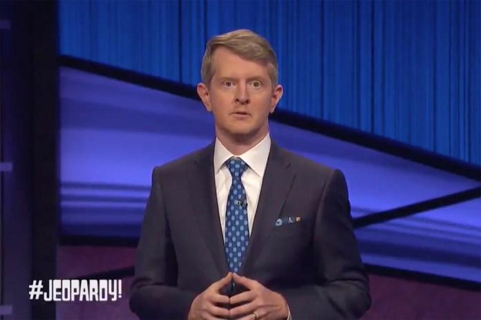 Ken Jennings Jeopardy Guest Host Alex Trebek