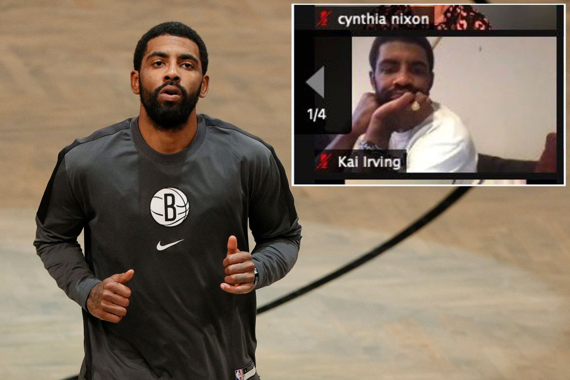 Kyrie Irving spotted on DA candidate's Zoom call ahead of Nets game 1