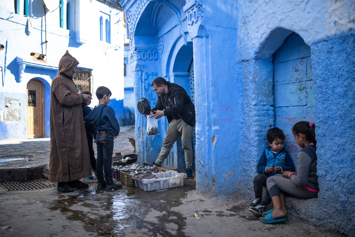Pandemic empties blue-hued Moroccan tourist town 1