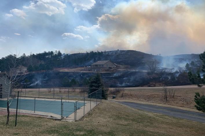 Schroeder Rd WildFire in South Dakota