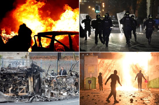 Buses burned, police wounded amid violence