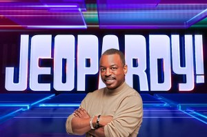 LeVar Burton as guest host of 'Jeopardy!'  with George Stephanopoulos