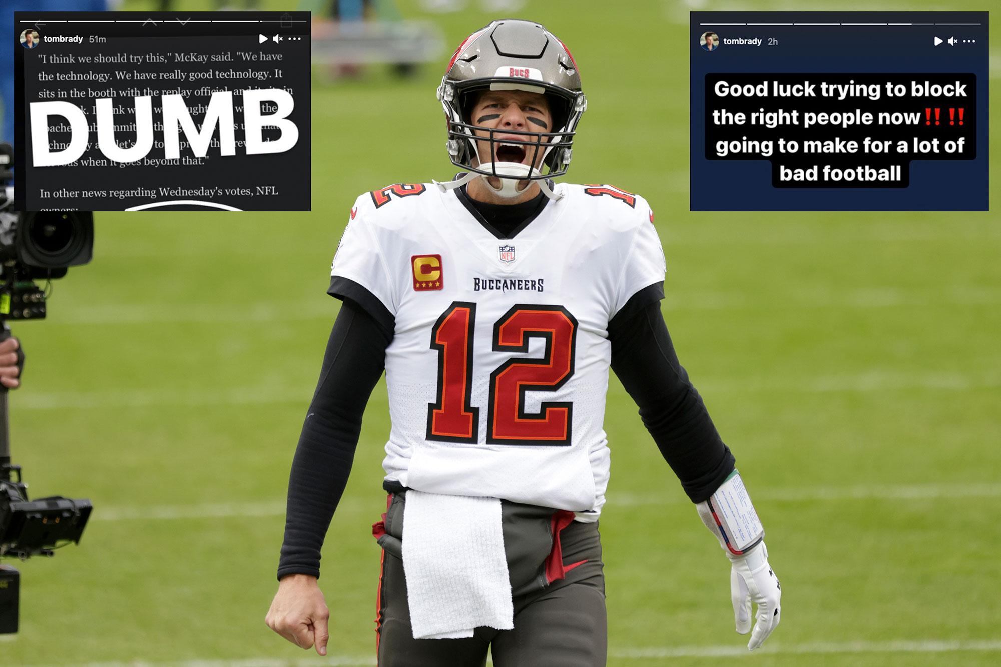 Tom Brady slams NFL's jersey number rule: 'Dumb'