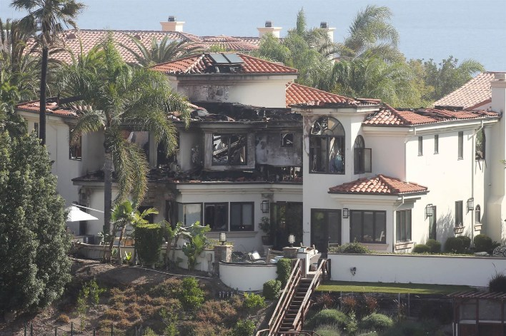 Camille Grammer loses her home to the Woolsey fire in Malibu