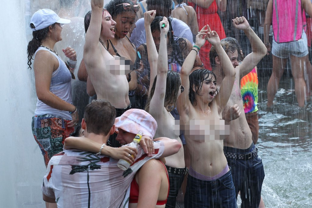 Dozens go topless for annual Dyke March in NYC