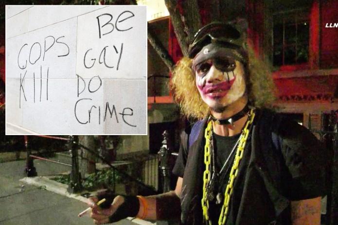 Slashings, anti-cop graffiti mark overnight mayhem in Washington Square Park