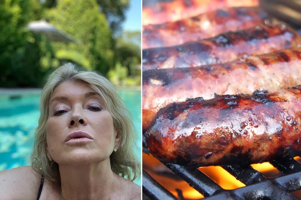 Martha Stewart grills her male staff with raunchy hot dog penis jokes