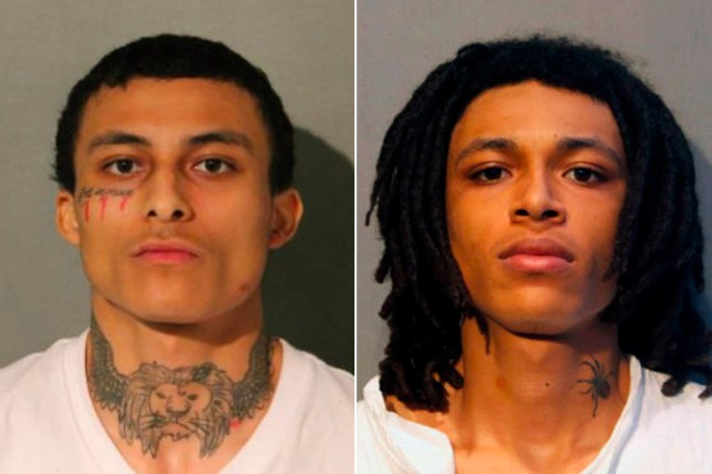 Emont Morgan (left) and Eric Morgan have been charged with French murder.