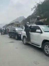 Footage of Amin ul-Haq.