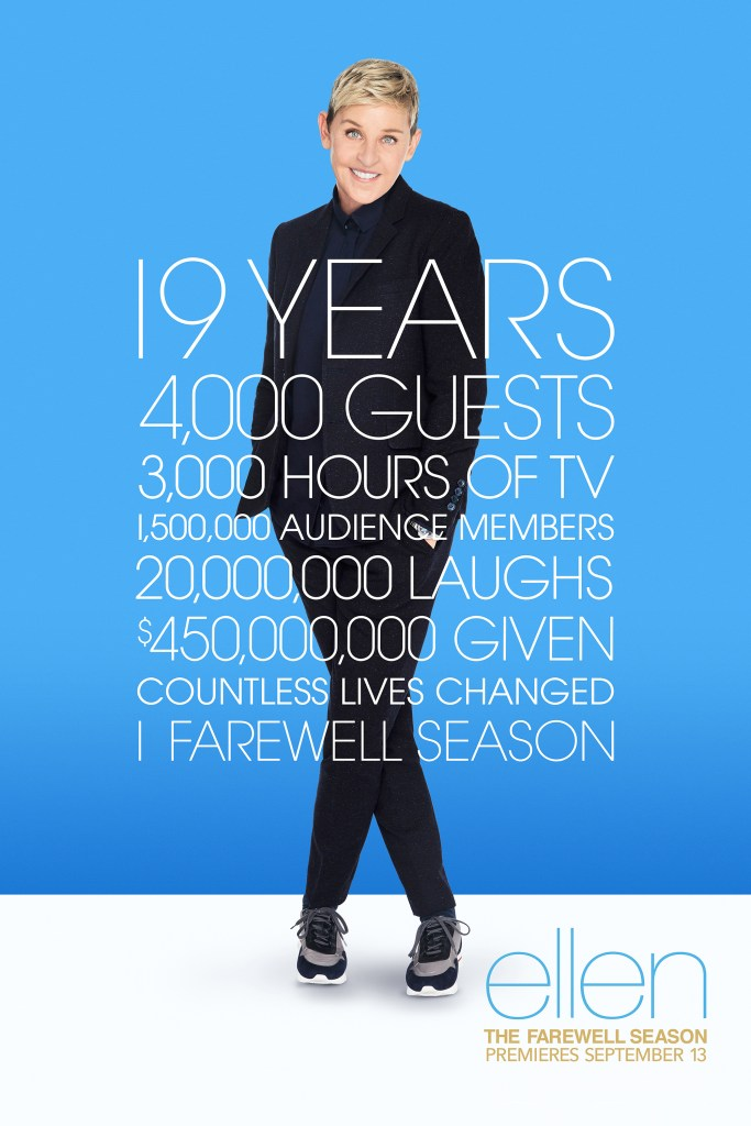 """""""The Ellen DeGeneres Show"""" is touting its accomplishments and history since it premiered two decades ago."""