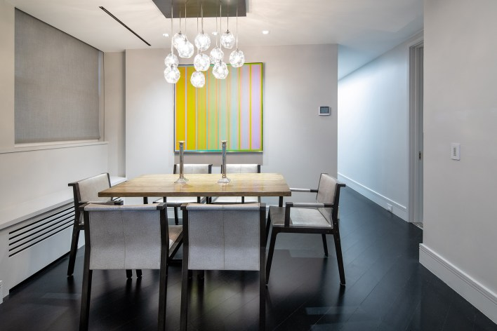 A dining area inside the 91 Central Park West home.