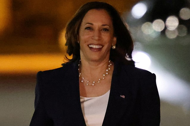 Vice President Kamala Harris nervously laughed after being asked about the crisis in Afghanistan.