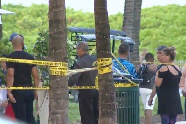 Scene of Miami shooting.