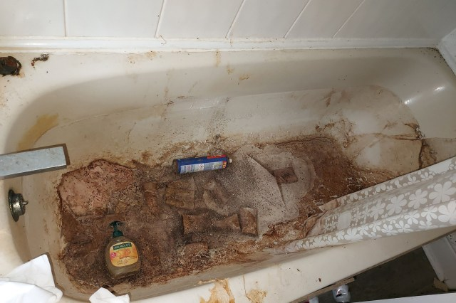 The K2-esque mound of cans was just the tip of the trashberg: Webb also discovered rotten food and a four-foot mountain of excrement in the bathroom.