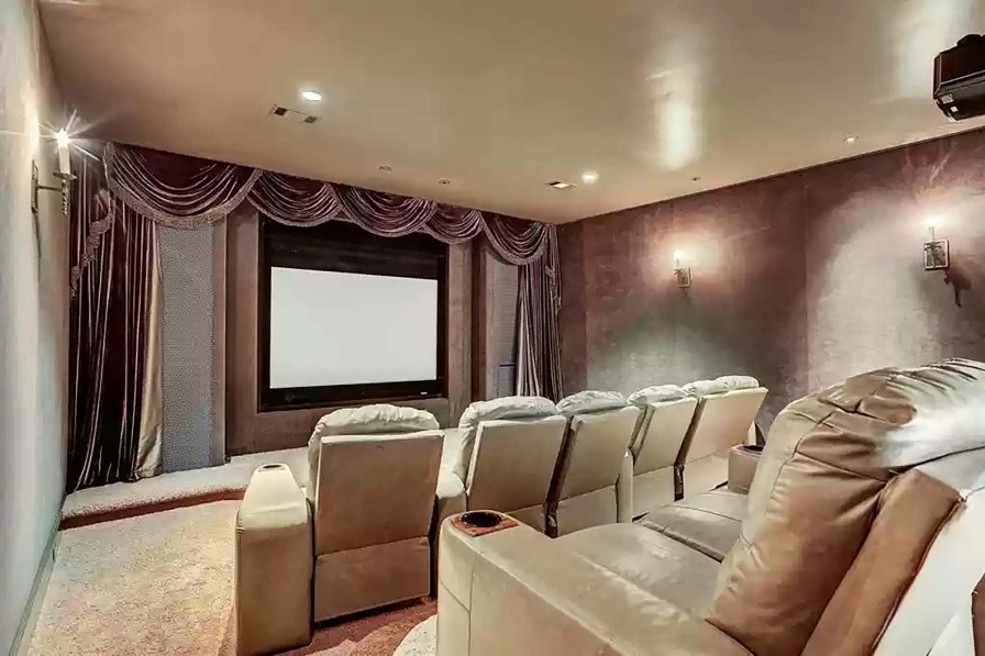 The home theater has room for 10.
