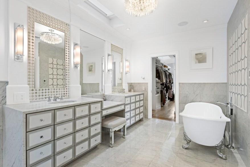 The primary en-suite bathroom fully renovated.